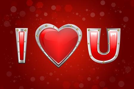 truelove: illustrazione di i love you Vettoriali