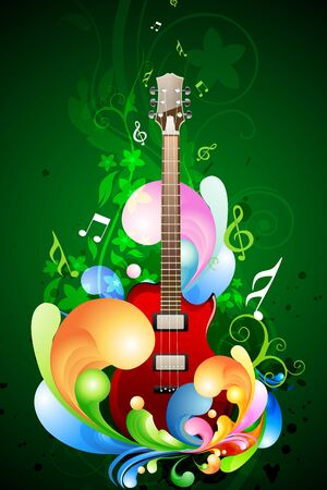 illustration of colorful music card on isolated background Vector
