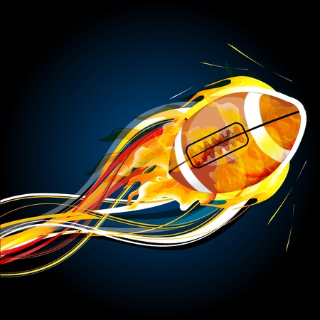 illustration of abstract rugby ball with waves Illustration