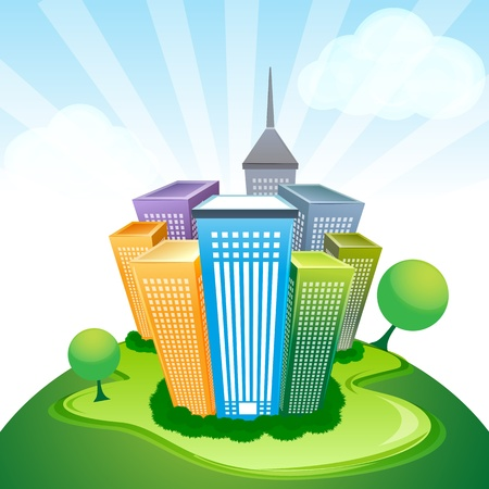 illustration of corporate buildings Vector