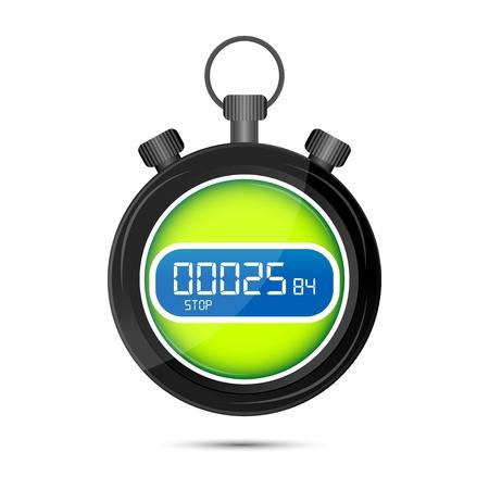 cronometro: Ilustraci�n de las carreras de fondo de watchvon blanco