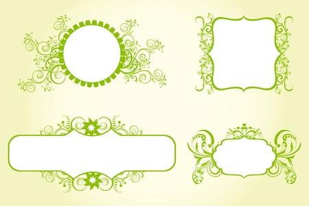 illustration of floral background on white background Vector