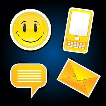 illustration of communication icons Vector