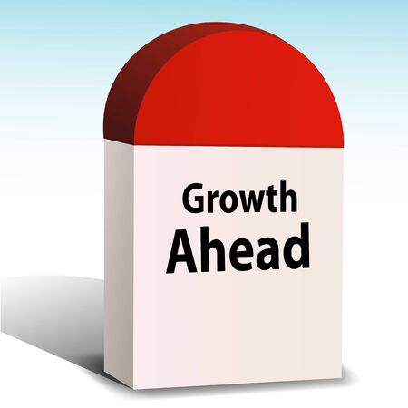 mile: illustration of growth ahead on white background