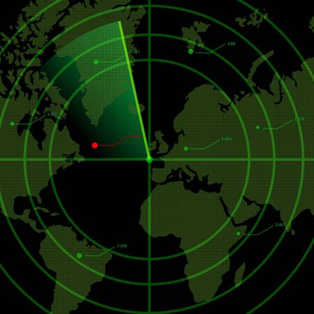 sonar: Illustration du radar