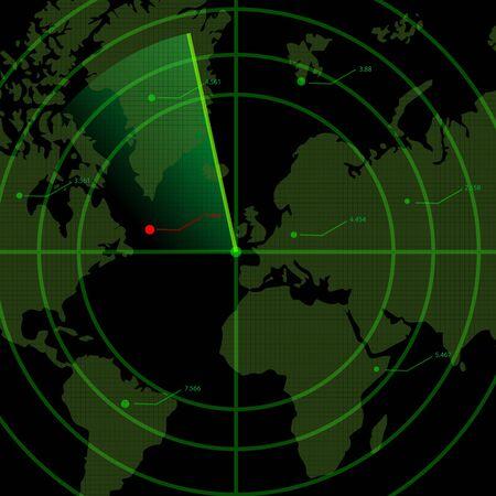 illustration of radar Vector