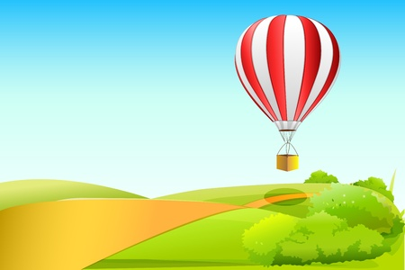 illustration of parachute in sky Stock Vector - 8637430