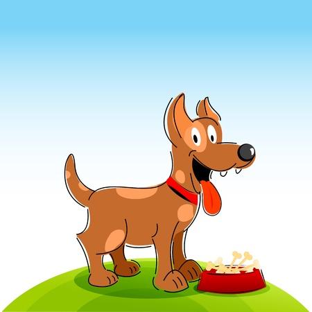 barking: illustrazione di happy dog