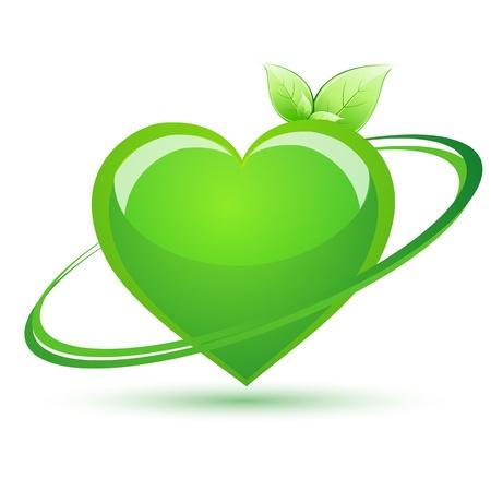 truelove: illustrazione del cuore di riciclare su sfondo bianco