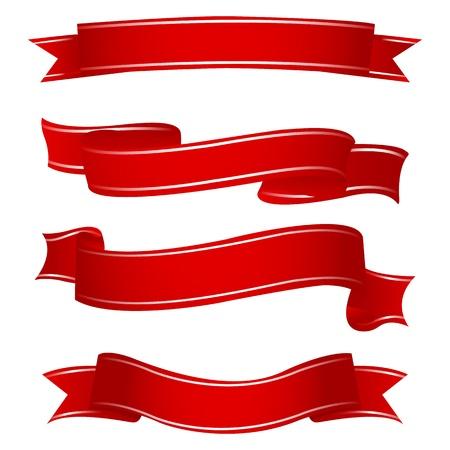 ribbon award: illustration of shapes of ribbons on white background