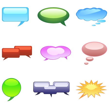 editable: illustration of dialogue bubble on white background