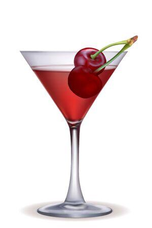 bubbly: illustration of grape wine on isolated background