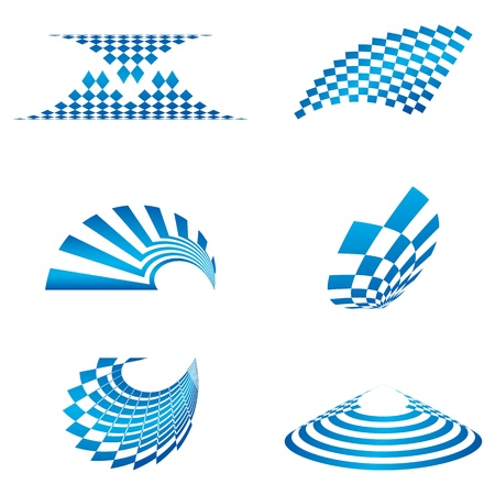 illustration of different shapes of logo on white background Stock Vector - 8637317
