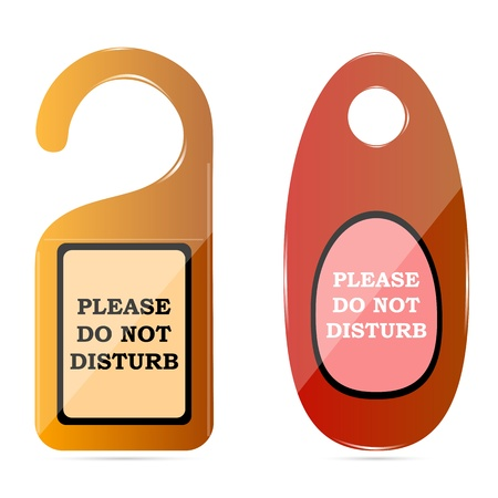 do not disturb: illustration of do not disturb tags on white background Illustration