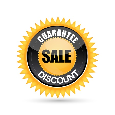 illustration of sale and discount tag on white background Illustration