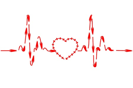 illustration of healthy heart on isolated background Vector