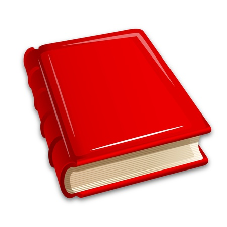 closed book: illustration of book on white background