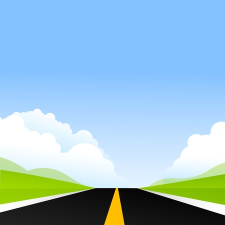 long road: illustration of road way