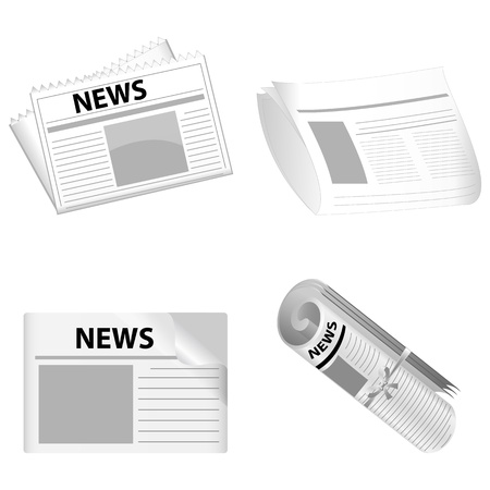 illustration of news paper on white background Stock Vector - 8637342
