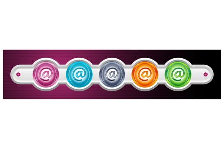 surfing the net: illustration of web icon on white background