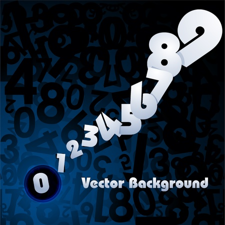 illustration of number card Vector