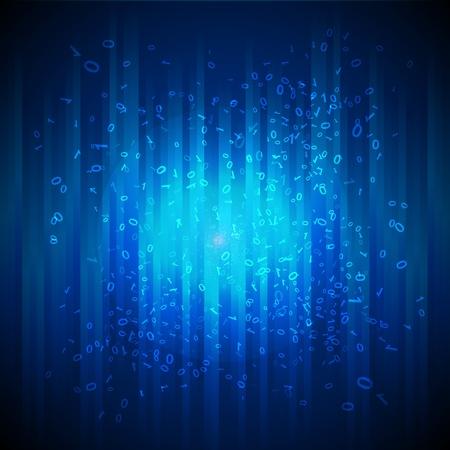 virtual space: illustrazione di sfondo binario Vettoriali