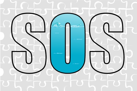 illustration of sos on white background Stock Vector - 8637301