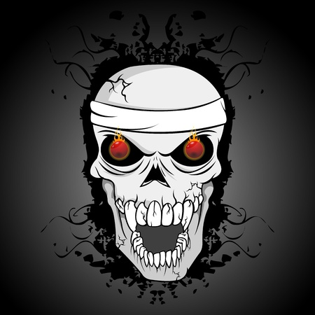 illustration of abstract skull Vector