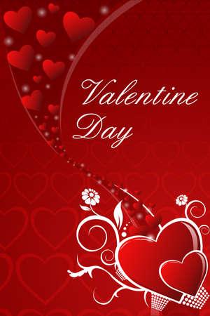 truelove: illustrazione della carta di San Valentino astratto con cuori Vettoriali