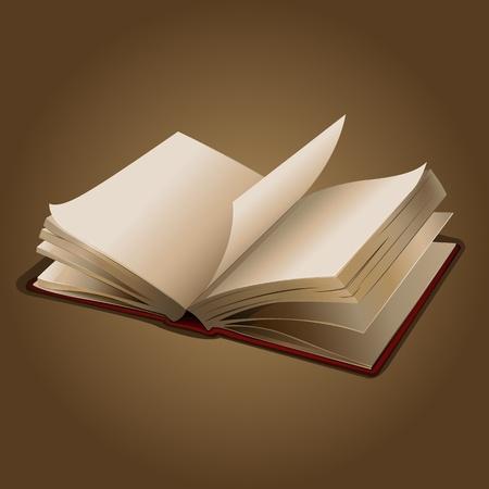 libros abiertos: Ilustraci�n de un libro abierto sobre fondo abstracto