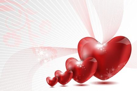 illustration of loving hearts on white background Stock Vector - 8901432