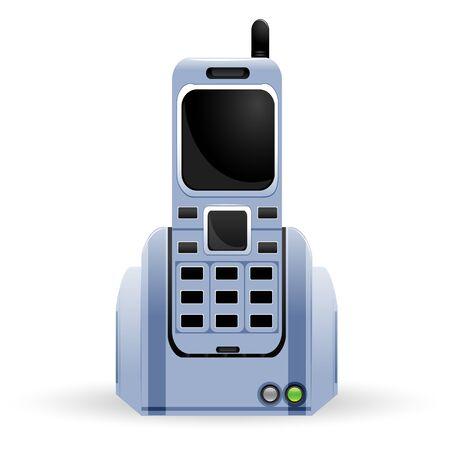 illustration of mobile phone on white background Stock Vector - 8901400