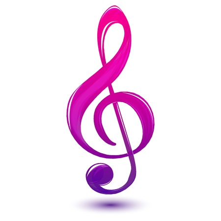 illustration of music text on white background