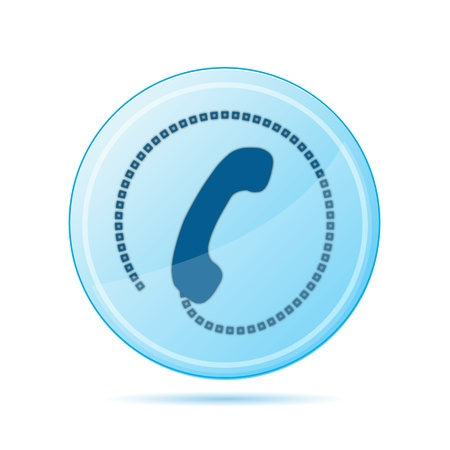 contact centre: illustration of calling tag on white background