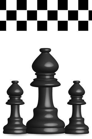 illustration of chess board on white background Vectores