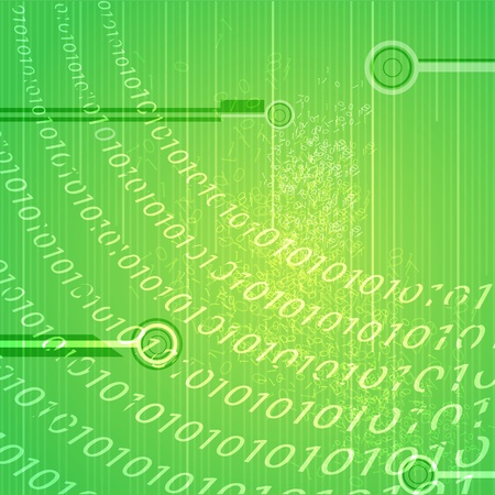 illustration of abstract binary background Vector