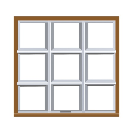 window view: illustration of window on white background