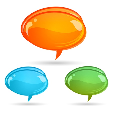illustration of dialogue bubbles on white background