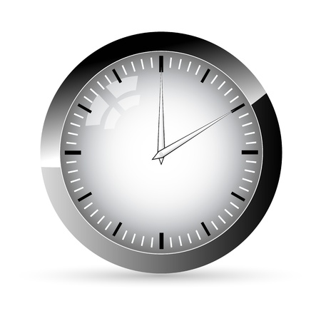 illustration of clock on white background Vector