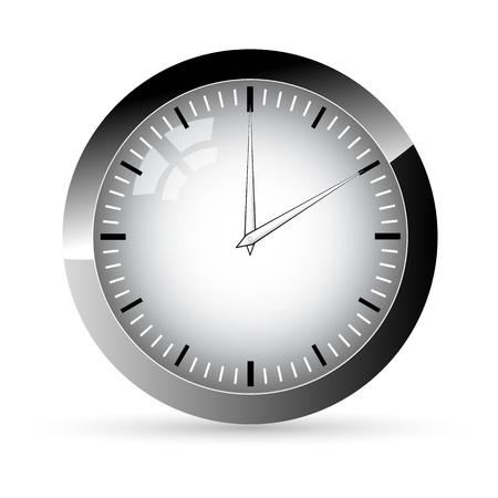 timer icon: illustration of clock on white background
