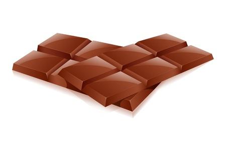 deliciously: illustration of chocolates on white background
