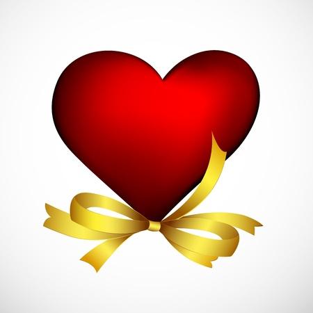 truelove: illustrazione del cuore con nastro su sfondo bianco Vettoriali