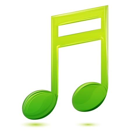 illustration of musical text on white background Vector