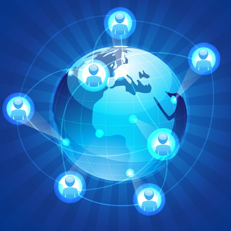 illustration of social networking