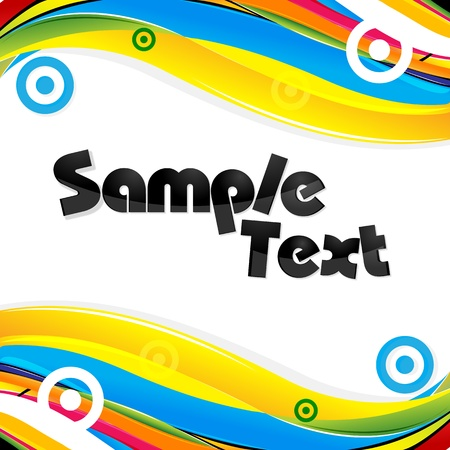 sample text: illustration of abstract colorful card Illustration