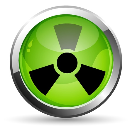 radioactive symbol: Ilustraci�n de nuclear sobre fondo blanco