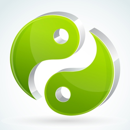 illustration of yin yang on white background