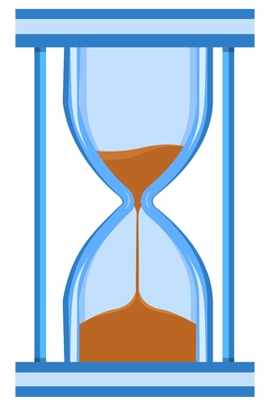 sand timer: illustration of hour watch on white background
