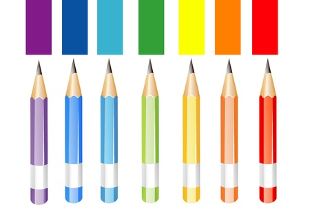 illustration of colorful pencils on white background Stock Vector - 9269428