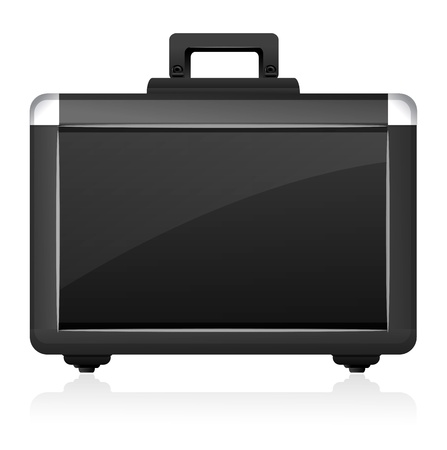 packing suitcase: illustration of briefcase on white background